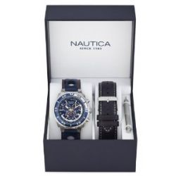 Nautica Herren-Armbanduhr XL Chronograph Quarz Resin A15663G