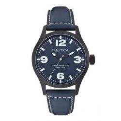 Nautica BFD 102 Herren-Armbanduhr Analog leder blau A13615G