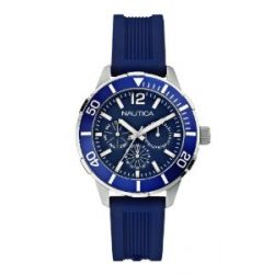 Nautica Damen-Armbanduhr Analog Quarz Silikon A14655M