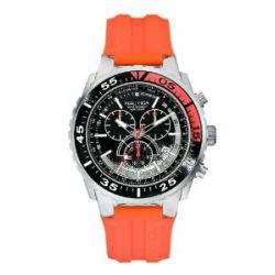 Nautica Herren-Armbanduhr XL Chronograph Quarz Silikon A14674G
