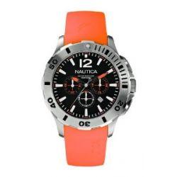 Nautica Herren-Armbanduhr Chronograph resin orange A16567G