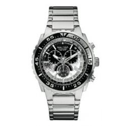 Nautica Herren-Armbanduhr XL Chronograph Quarz Edelstahl A16654G