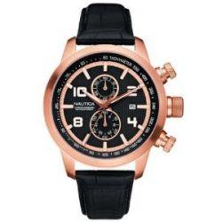 Nautica Herren-Armbanduhr Leder A20051G