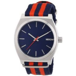 Nixon Unisex-Armbanduhr The Time Teller Navy / Red Nylon Analog Quarz A0451152-00