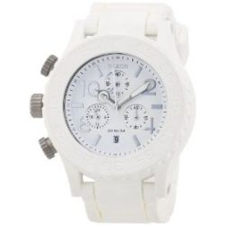Nixon Herren-Armbanduhr XL The Rubber 42-20 Chrono White Chronograph Quarz verschiedene Materialien A309100-00