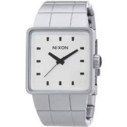 Nixon Herren-Armbanduhr The Quatro Sandedsteel / Whi Analog Quarz Edelstahl A0131166-00