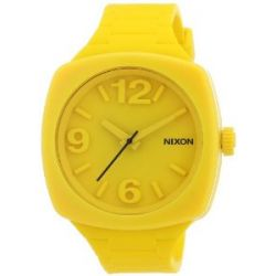 Nixon Damen-Armbanduhr The Dial Goldenrad Analog Quarz Silikon A265639-00