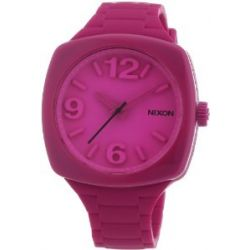 Nixon Damen-Armbanduhr The Dial Shocking Pink Analog Quarz Silikon A265644-00
