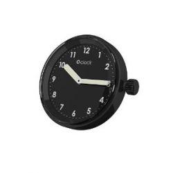 O clock Unisex-Uhrengehäuse MECHANISM für Armbanduhr SIGNAL BLACK NUMBERS Analog 32 mm MEC.NSN