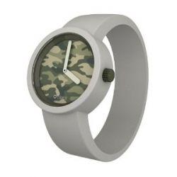 O clock Unisex-Armbanduhr CAMOUFLAGE creme Analog Silikon 32 mm CLOCKCAML_GH