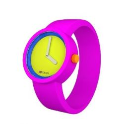 O clock Unisex-Armbanduhr 80s COLLECTION pink Analog Silikon 32 mm CLOCK TTM_FR