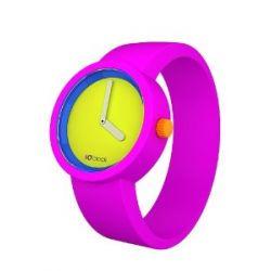 O clock Unisex-Armbanduhr 80s COLLECTION pink Analog Silikon 32 mm CLOCK TTS_FR