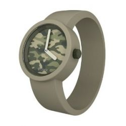 O clock Unisex-Armbanduhr CAMOUFLAGE beige Analog Silikon 32 mm CLOCKCAMXS_TO
