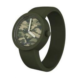 O clock Unisex-Armbanduhr CAMOUFLAGE grün Analog Silikon 32 mm CLOCKCAMXS_VO
