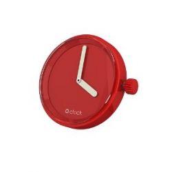 O clock Unisex-Uhrengehäuse MECHANISM für Armbanduhr rot Analog 32 mm MEC.RT