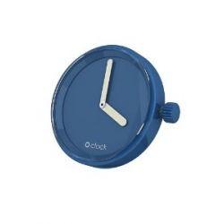 O clock Unisex-Uhrengehäuse MECHANISM für Armbanduhr blau Analog 32 mm MEC.BC