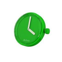 O clock Unisex-Uhrengehäuse MECHANISM für Armbanduhr grün Analog 32 mm MEC.VM