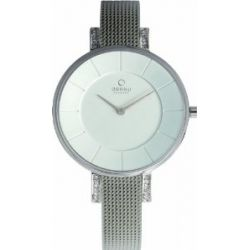 Obaku Denmark Damen-Armbanduhr Analog Quarz Edelstahl beschichtet V158LECIMC