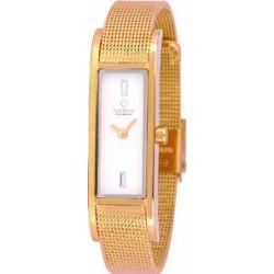 Obaku Denmark Damen-Armbanduhr Analog Quarz Edelstahl beschichtet V159LXGIMG