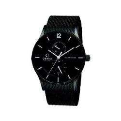 Obaku Denmark Herren-Armbanduhr XL Analog Quarz Edelstahl beschichtet V157GMBBMB