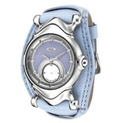 Oakley Jury Polished l Sunburst Blue Dial l Blue Leather