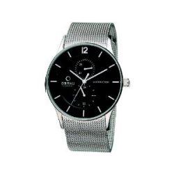 Obaku Denmark Herren-Armbanduhr XL Analog Quarz Edelstahl beschichtet V157GMCBMC