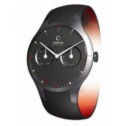 Obaku Harmony Herren-Armbanduhr XL Analog Quarz Leder 28-V100GBBRB1