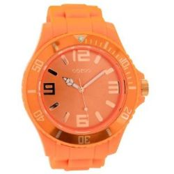 Oozoo XXL Herrenuhr mit Silikonband - C5034 - Fluo Orange/Rose