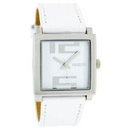 Oozoo Damenuhr mit Lederband XL - Weiss/Weiss - C5655