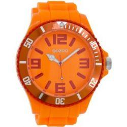 Oozoo Herrenuhr mit Silikonband XXL - Fluo Orange/Rot - C5828