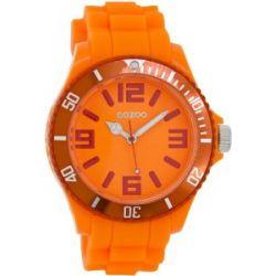 Oozoo Damenuhr mit Silikonband XXL - Fluo Orange/Rot - C5853