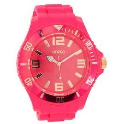 Oozoo XXL Herrenuhr mit Silikonband - C5035 - Fluo Pink/Rose