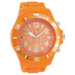 Oozoo XXL Herrenuhr mit Silikonband - C4826 - Fluo Orange