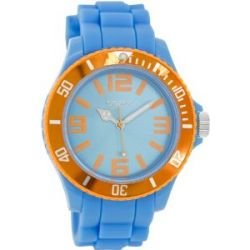 Oozoo Damenuhr mit Silikonband XXL - Fluo Blau/Orange - C5858