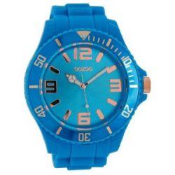 Oozoo XXL Damenuhr mit Silikonband - C5057 - Fluo Blue/Rose