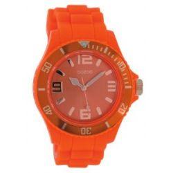 Oozoo XXL Damenuhr mit Silikonband - C5054 - Fluo Orange/Rose