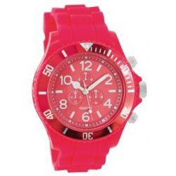 Oozoo XXL Damenuhr mit Silikonband - C4837 - Fluo Pink