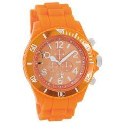 Oozoo XXL Damenuhr mit Silikonband - C4836 - Fluo Orange