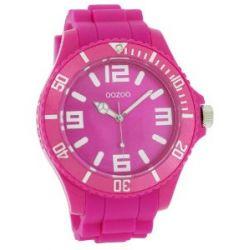 Oozoo Unisex-Armbanduhr Silicone Collection Analog Silikon pink C4166