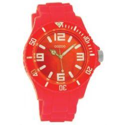 Oozoo Unisex-Armbanduhr Silicone Collection Analog Silikon pink C4282