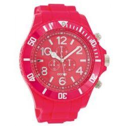 Oozoo XXL Herrenuhr mit Silikonband - C4827 - Fluo Pink