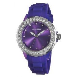 Pilgrim Damen-Uhren versilbert Lila 780-233