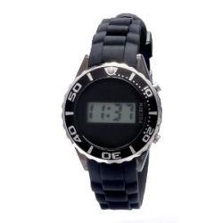 Pilgrim Damen-Armbanduhr Versilbert Schwarz Digital 780-290