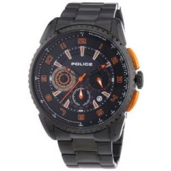 Police Herren-Armbanduhr XL FLARE Chronograph Quarz Edelstahl P13648JSB-02MA