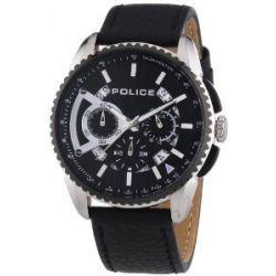 Police Herren-Armbanduhr XL FLARE Chronograph Quarz Leder P13648MSTB-02