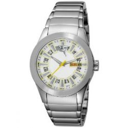 Puma Time Damen-Armbanduhr Fan Metal Silver White Analog Quarz Edelstahl PU102402006
