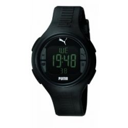 Puma Time Herren-Armbanduhr XL Pulse Black Digital Quarz Plastik PU910541001