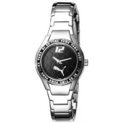 Puma Time Motorsport Damen-Armbanduhr Star Metal Silver Black A.PU102202002
