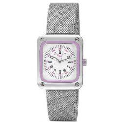 Puma Time Damen-Armbanduhr Frame Metal Silver Purple Analog Quarz Edelstahl PU102562002