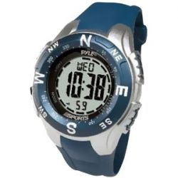 Pyle Uhr mit digitalem Kompass, Chronograph, Stimulator und Countdown (blau)